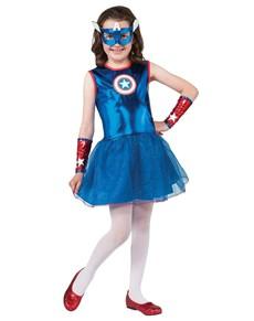 Disfraz de Capitán América tutú para niña