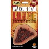 Prótesis de herida putrefacta The Walking Dead de látex