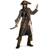 Disfraz de Capitán Jack Sparrow Piratas del Caribe supreme para hombre