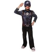 Kit disfraz Capitán América Soldado de Invierno retro y musculoso para niño
