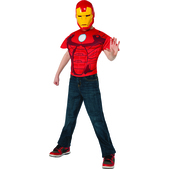 Kit disfraz de Iron Man musculoso para niño