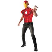 Kit disfraz de Iron Man musculoso para adulto