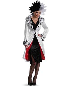 Disfraz de Cruella De Vil de 101 dalmatas para mujer