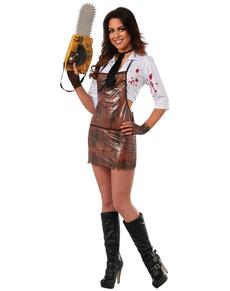 Disfraz de Leatherface sexy para mujer
