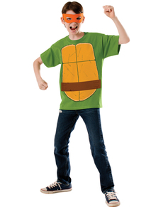Kit disfraz de Michelangelo Las Tortugas Ninja para niño