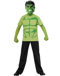 Kit disfraz de Hulk Marvel para niño