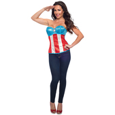 Corsé Capitán América con lentejuelas Marvel para mujer