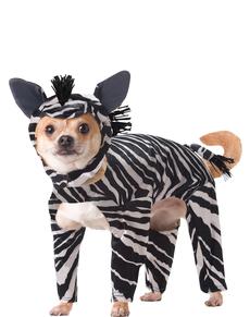 Disfraz de cebra para perro