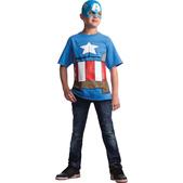 Camiseta de Capitán América Marvel para niño