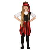 Disfraz de pirata valiente para niña