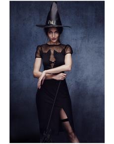 Disfraz de bruja gatuna fever para mujer