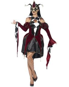 Disfraz de arlequín veneciana para mujer