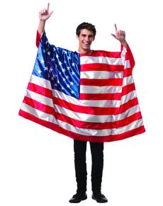 Disfraz de bandera de Estados Unidos para hombre