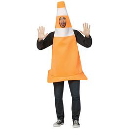 Disfraz de cono de tráfico para hombre