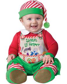 Disfraz de ayudante de Santa Claus para bebé