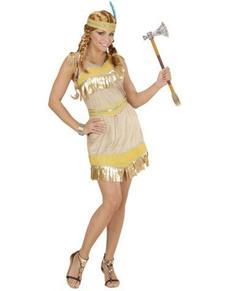 Disfraz de india dorada para mujer