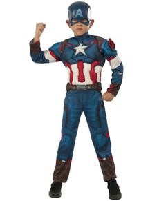 Disfraz de Capitán América: La Era de Ultrón deluxe para niño