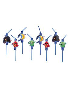 Set de 8 pajitas Angry Birds