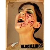 Maquillaje Black Lines halloween