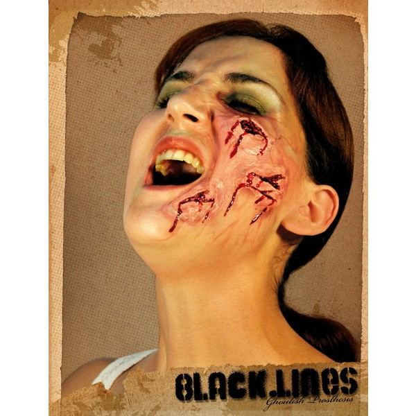 halloween schminke black lines g nstig online kaufen preis. Black Bedroom Furniture Sets. Home Design Ideas