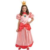 Costume de princesse Peach haut de gamme fille