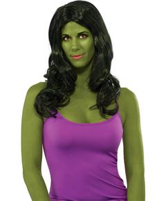Peluca de She Hulk para mujer