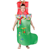 Disfraz de calcetín de navidad para niño