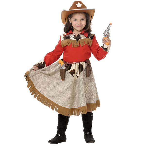 Disfraz de vaquerita para niña