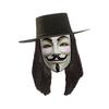 Perruque noire de V pour Vendetta