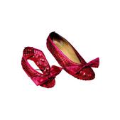 Cubrezapatos con lentejuelas rojas El Mago de Oz infantil