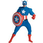Disfraz de Capitán América musculoso Deluxe
