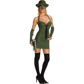 Disfraz de Sexy Green Hornet mujer