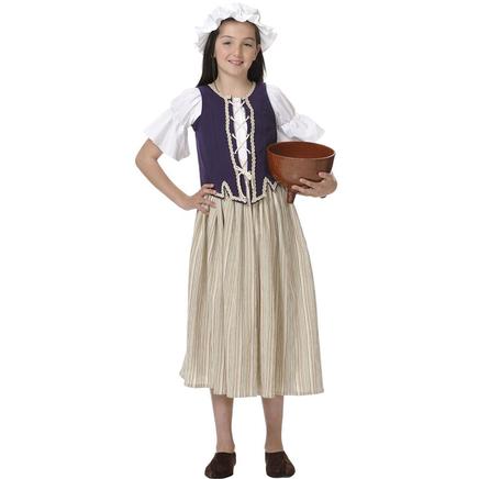 Disfraz de campesina para niña