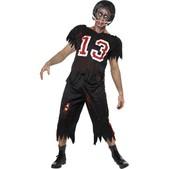 Disfraz de jugador de fútbol americano zombie