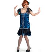 Blaues Charleston Kostüm deluxe