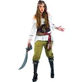 Disfraz de pirata saqueadora deluxe