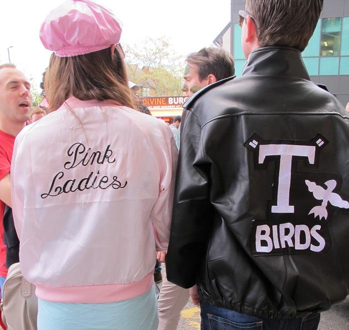 kost m tipp grease mottoparty werde zur pink lady oder t bird. Black Bedroom Furniture Sets. Home Design Ideas